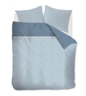Rivièra Maison dekbedovertrek Pleaty Blauw Katoen