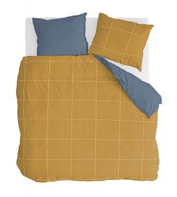Walra housse de couette Four-Square Moutarde Miel Coton