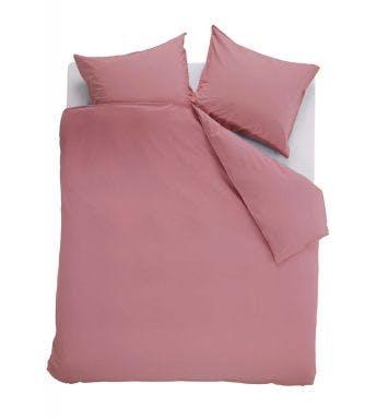 Ambiante dekbedovertrek Cotton Uni Roze Katoen