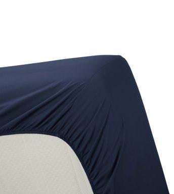 Ambiante hoeslaken Cotton Uni Donker Blauw Katoen