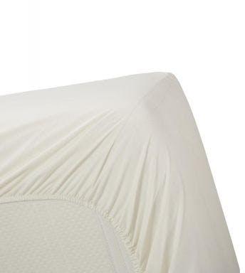 Ambiante hoeslaken Cotton Uni Off-white Katoen
