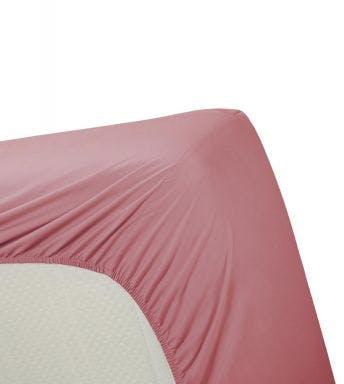 Ambiante hoeslaken Cotton Uni Roze Katoen