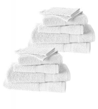 De Witte Lietaer 12-delige handdoekenset Hélène white