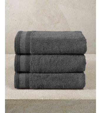 De Witte Lietaer handdoek Contessa dark grey