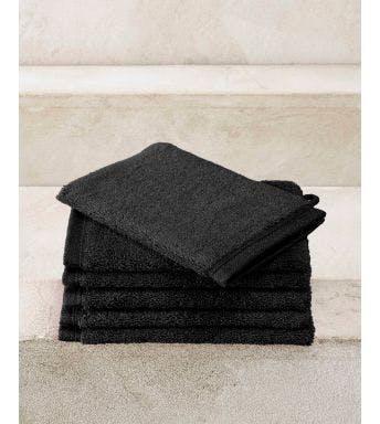 De Witte Lietaer gant de toilette Contessa black - 6 pièces
