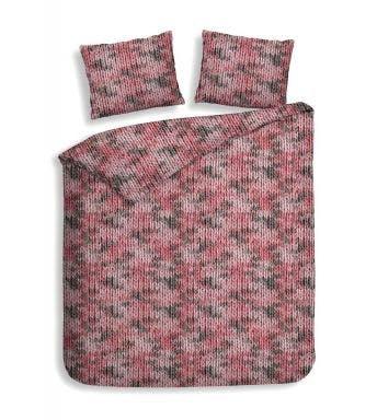 Heckett & Lane dekbedovertrek Colemy pink flanel