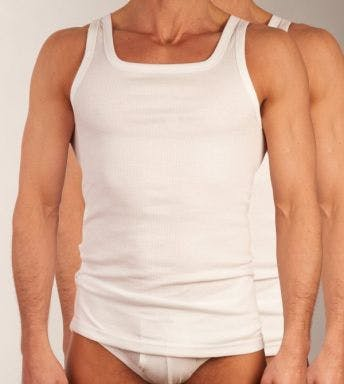 Dulcia singlet 2 pack New Basic Cotton H 678.0605 wit