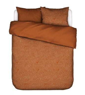 Essenza dekbedovertrek Gwenn Duvet cover Walnut Perkalkatoen