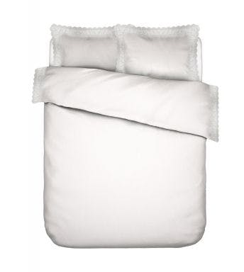Essenza dekbedovertrek April Duvet cover White Perkalkatoen