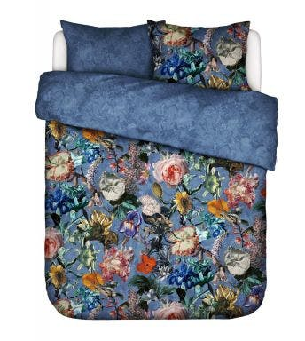Essenza dekbedovertrek Famke Duvet cover Moonlight blue Katoensatijn