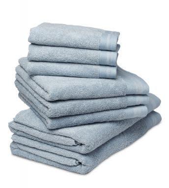 De Witte Lietaer 8-delige handdoekenset Contessa ice blue