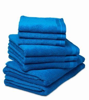 De Witte Lietaer 8-delige handdoekenset Contessa pacific blue