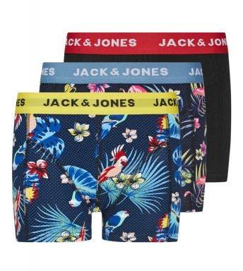 Jack & Jones short 3 pack Jacflower Bird Trunks J