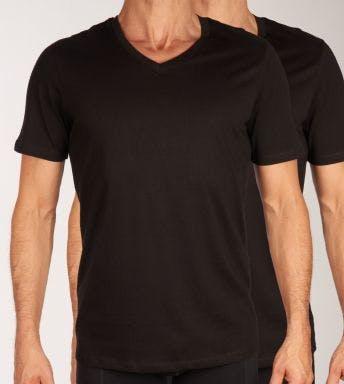 Jack & Jones T-shirt V-hals 2 pack Jacbasic Tee H