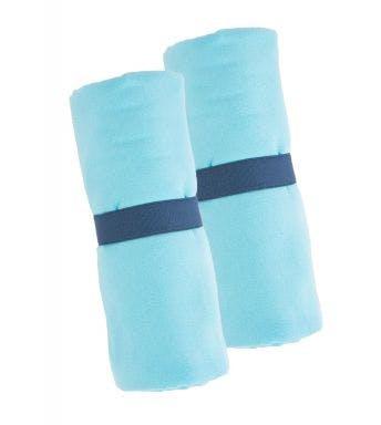 Jules Clarysse 2-delige handdoekenset microfiber light blue/aqua