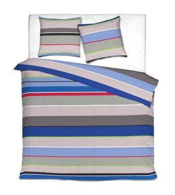 Mistral Home dekbedovertrek Fly Stripe blue grey katoen