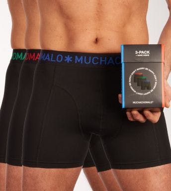 Muchachomalo short 3 pack Solid H
