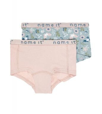 Name It short 2 pack Nkfhipster Pale Mauve Flower M