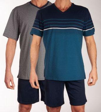 Schiesser pyjama korte broek 2 pack H