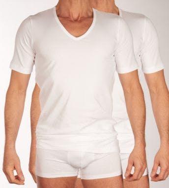 Schiesser t-shirt V-hals 2 pack Shirt 95/5 H