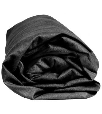 Sleepnight hoeslaken antraciet katoen (hoekhoogte 25 cm)