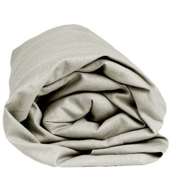 Sleepnight hoeslaken extra hoog grijs katoen
