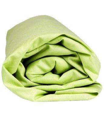 Sleepnight hoeslaken lime katoen (hoekhoogte 25 cm)