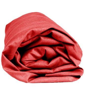 Sleepnight hoeslaken rood flanel (hoekhoogte 25 cm)