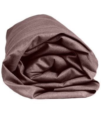 Sleepnight hoeslaken taupe katoen (hoekhoogte 25 cm)