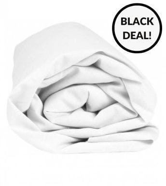 Sleepnight hoeslaken wit katoen (hoekhoogte 25 cm)