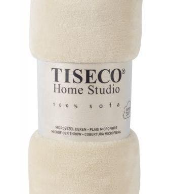 Tiseco Home Studio plaid soft uni ivoor microflanel