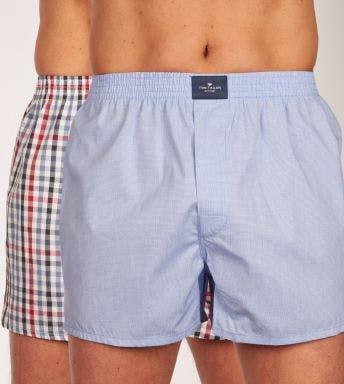 Tom Tailor wijde boxershort 2 pack Web-Shorts H