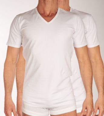 Tom Tailor T-shirt V-hals 2 pack Stretch Cotton H