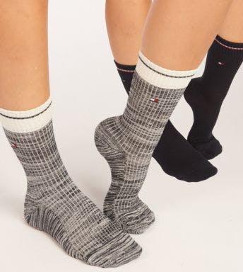 Tommy Hilfiger sokken 2 paar Rib Runfree D