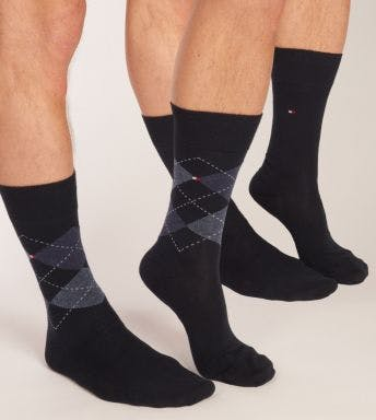 Tommy Hilfiger sokken 2 paar Check H