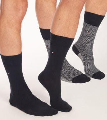 Tommy Hilfiger sokken 2 paar Herringbone Neppy H