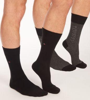 Tommy Hilfiger sokken 2 paar Rib Logo H