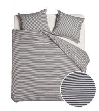VTwonen dekbedovertrek Comfy Stripe Grey katoenjersey