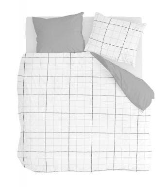 Walra housse de couette Four-Square Blanc Coton
