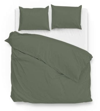 Zo! Home dekbedovertrek Satinado Army Green Katoen Satijn