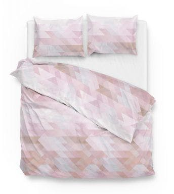 Zo! Home dekbedovertrek Chetan Pink Katoensatijn